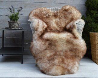 Luxury Sheepskin Rug Throw Blanket Dyed Color Muflon — kopia